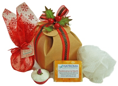 Natroma Christams Soap and Bathing Hamper