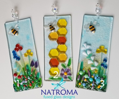 Large Fused Glass Sun Catcher