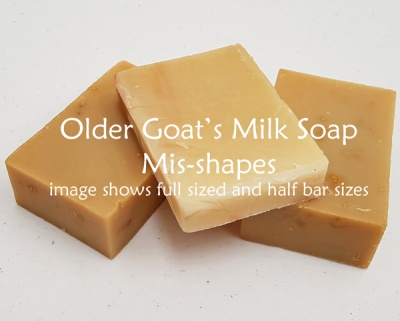 Older Goat Milk Soap Mis-Shapes