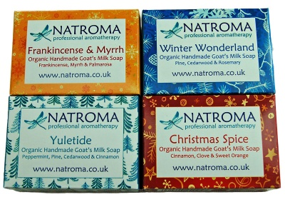 Organic Christmas Goats Milk Soaps by Natroma