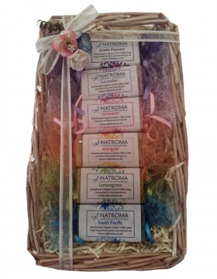 Rainbow Organic Soap Hamper