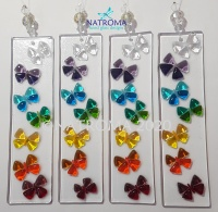 Fused Glass Chakra Butterflies